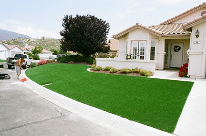 fininshed artificial grass install