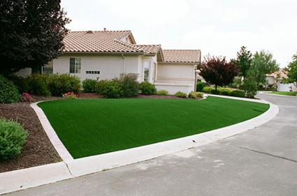 another angle of completeed turf install