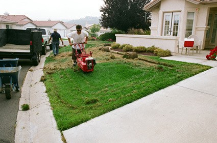 Sod Cutter Taking out grass