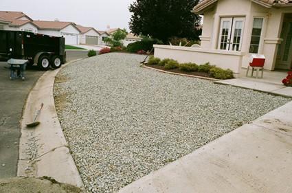 larger rocks over decomposed granite