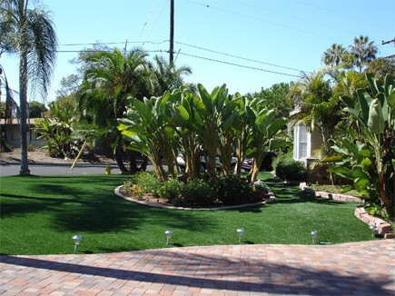 front artificial turf